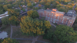 Aerial shot of quad