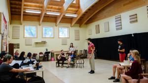 Rehearsal at Weaver Commons, Okoboji Summer Theatre