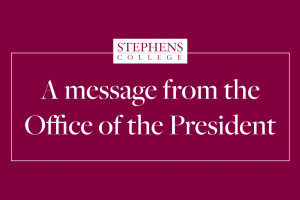 News Banner: A message from the Office of the President